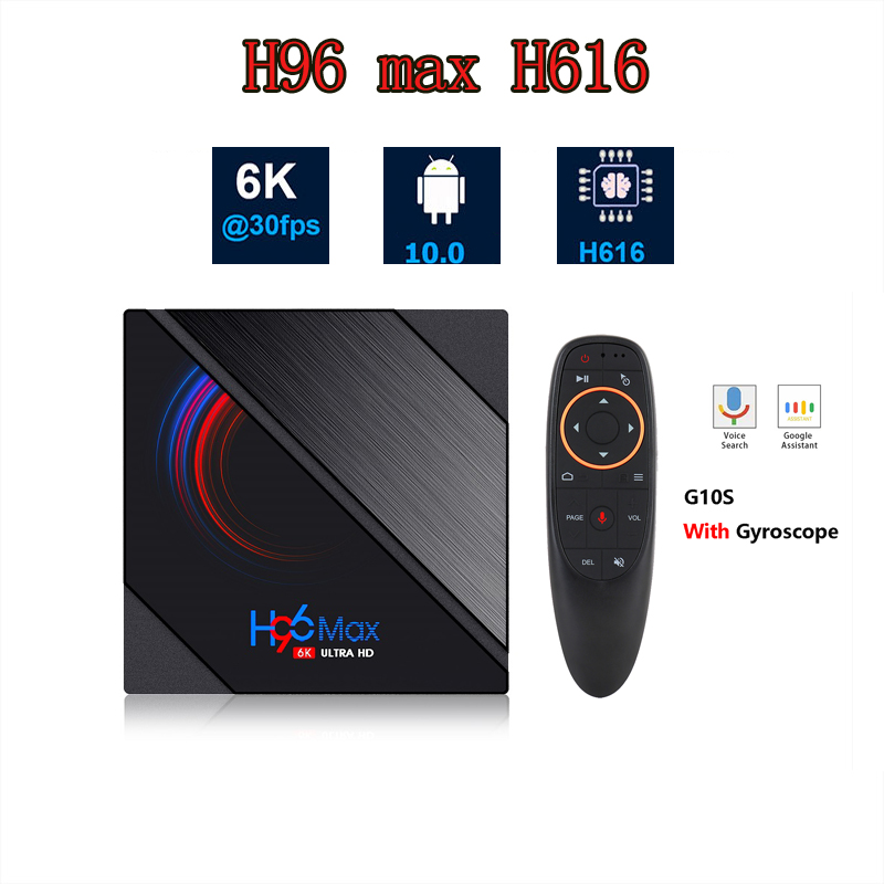 H96 MAX H616 Smart Android TV Box 16GB 32GB 64GB Media player 6K Wifi Set top Box Media Player Youtube Android 10 0 BOX
