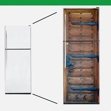 Adhesivo de pared DIY, autoadhesivo de madera Vintage, adhesivo de nevera para lavavajillas, adhesivo de congelación, papel pintado para cubrir la puerta del refrigerador artístico para niños