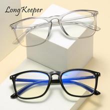 Frame Glasses Gafas Optical-Eyewear Square Vintage Anti-Blue Women UV400 Longkeeper