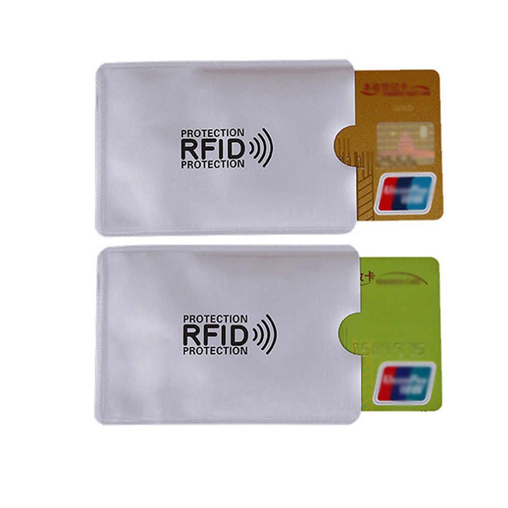 6 ピース/ロットポーチホルダースリーブスキャンアルミケースセキュリティブロッキング財布アンチ Rfid クレジットカードパスポート