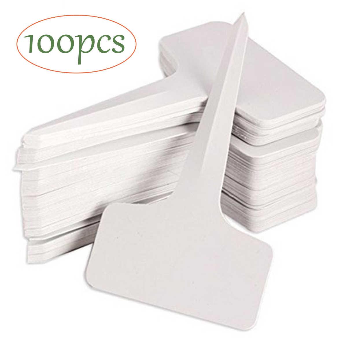 10Pcs Plastic T-Type Name Tags Plant Labels Nursery Garden Markers Sticks