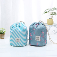 Large-capacity multi-function portable drawstring travel storage bag multi-style cylinder cosmetic