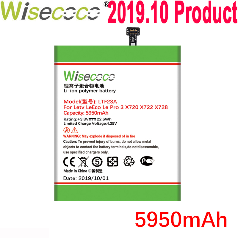 WISECOCO 5950mAh LTF23A <font><b>Battery</b></font> For <font><b>LeEco</b></font> Le Pro 3 X720 <font><b>X722</b></font> X728 Mobile Phone Latest Production <font><b>Battery</b></font> With Tracking Code image