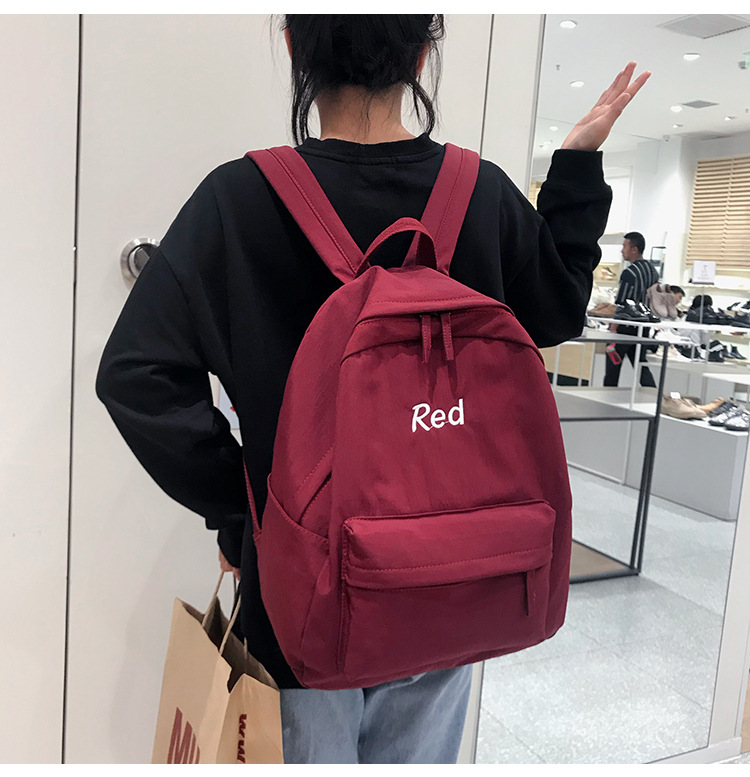 2019 new fashion classic couple student bag Korean student large capacity nylon backpack suitable for teenage girl backpack image