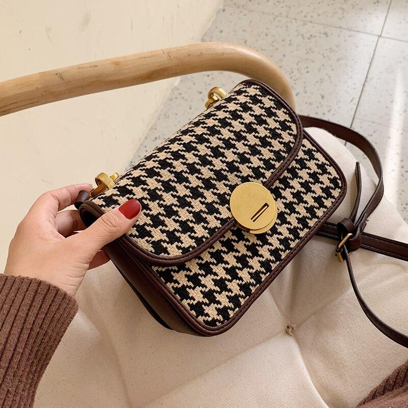 Autumn Winter Popular New Bag Female 2020 New Tide Korean Version  Messenger Bag Woolen Atmosphere Fashion Shoulder Bag