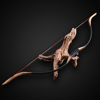 Toparchery 30-50lbs Traditional Longbow for Left/Right Hand Pure Handmade Archery Bow for Hunting Outdoor Shooting Practice
