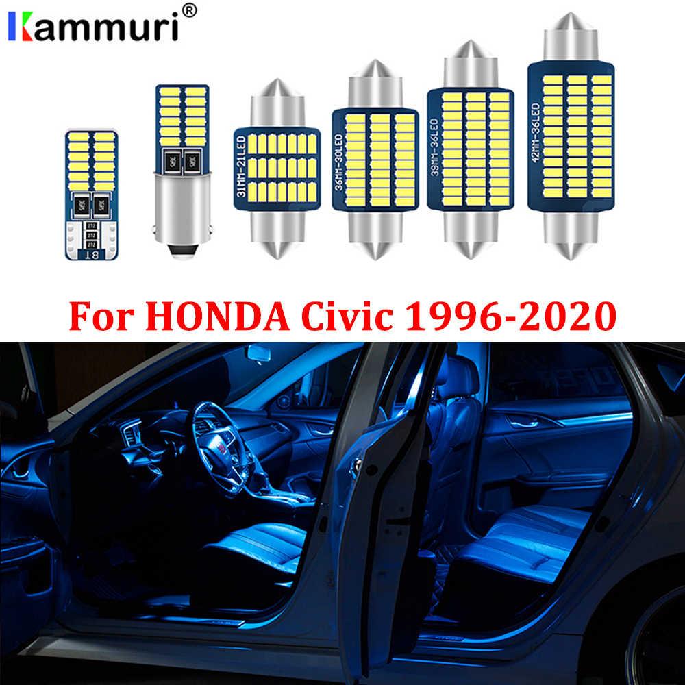 10PCS White LED Map Dome Light Interior Package Kit for Honda Civic 2006-2012