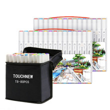 TOUCHNEW T8 2020 NEW 60/80/168Colors Alcohol Art Markers Double Tipped Sketching Marker Set Round Pen for Kids Adults Coloring
