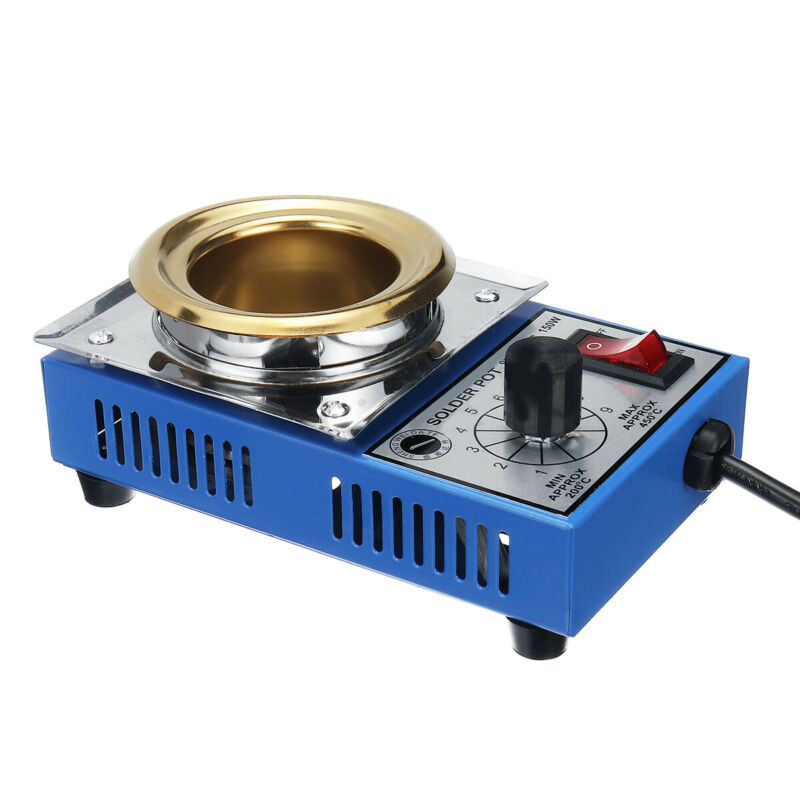 50mm Solder Pot Soldering Desoldering Bath 200-480 Degree Celsius Titanium Plate Durable And Practical To Use