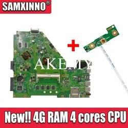 Para ASUS X550CC X550C X550V Y581C X550CL X552C R510C X550VB placa base de computadora portátil 100% prueba OK HD8500M 4 gramos 4 núcleos CPU libre Junta