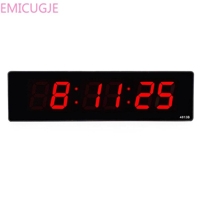 Livingroom Electronic Digital LED Wall Clock Luminous Silent Desktop Clock Simple Time Display Big Wall Clock Home Plug-in Cloc