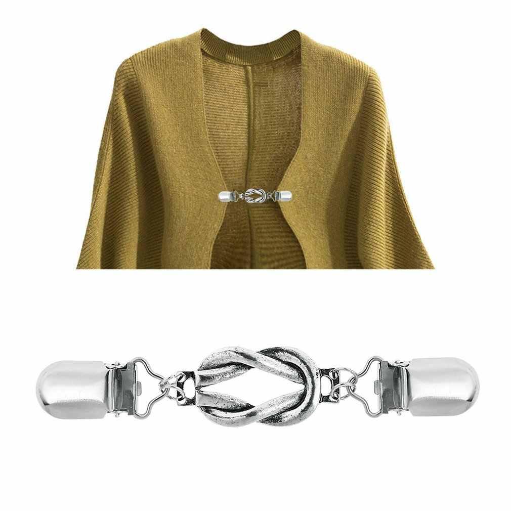 Спроектированный в цепочке элегантный и нежный Ретро Простой Модный витой кардиган брошь на свитер Дамский декольте клип Брошь