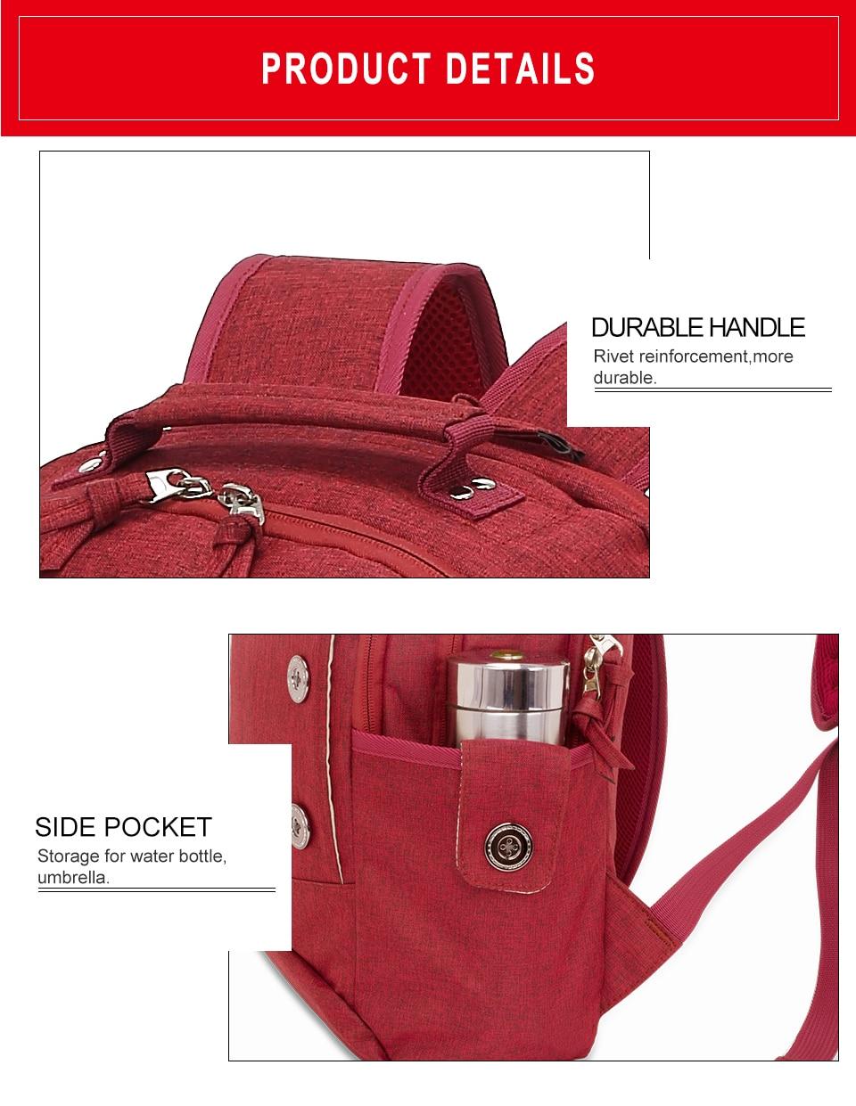 Kingslong portátil mochila feminina para adolescentes moda