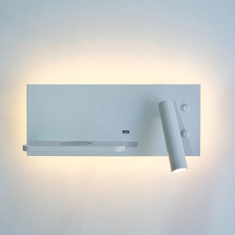 ZEROUNO lumière LED ampoules chambre veilleuses Style Simple monté en Surface lampes LED via 5V 2.1A Port USB 9V 1A Charge sans fil