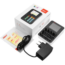ISDT C4 8A Touch Screen Smart Battery Charger With USB Output For 18650 26650 AA AAA Battery цена