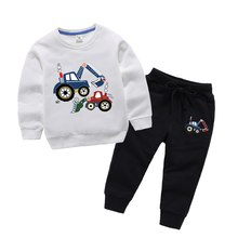 2019 Boys Girls Pullovers Set Long Sports Pants Trousers For Spring Autumn Boys Children Hoodies 2 3 4 5 6 7 8 Years Old(China)