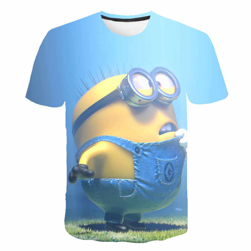 4-14T 2020 Minions 3d Gedrukte T-shirt Jongen Top Cartoon T-shirt Meisje Leuke Jas Mode Meisje kawaii Hot Koop Kids Summer Tops