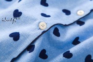 Image 5 - Nightgown Pyjamas Womens Sleepwear Lady Cotton Long Nightdress Plaid Cartoon Pyjamas Loungewear Nightwear With Pocketed