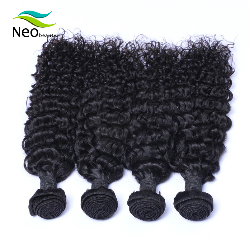 Burmese Jerry Curly Hair 10A  Human Hair Bundles Curls 1/3/4 Bundles10-22 Inches Natural Color Virgin Hair Extensions