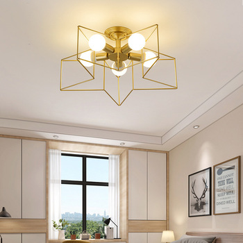 lamps and lanterns of study of all copper star bedroom lamp corridor balcony lamp light simple atmospheric restaurant wilma geometric ceiling lamps lighting triangle art corridor balcony restaurant led simple bedroom lamp