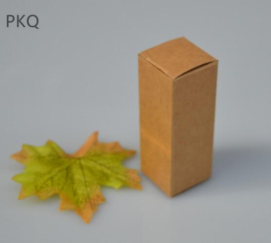 205pcs Wholesale Kraft Paper Box Small Gift Packaging Box Blank Cardboard Carton 4.1x4.1x9.5cm