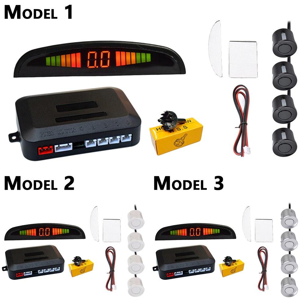 Pełny zestaw samochodów czujnik parkowania led z 4 czujnikami rewers Backup samochód czujnik parkowania monitor system detektorów