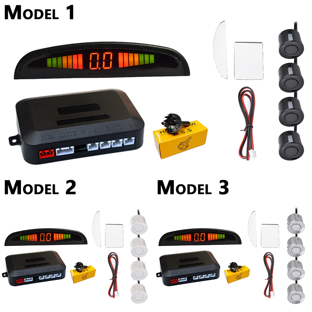 Vollen Satz Auto Auto Parktronic LED Parkplatz Sensor mit 4 Sensoren Reverse Backup Parkplatz Radar Display Monitor Detektor System