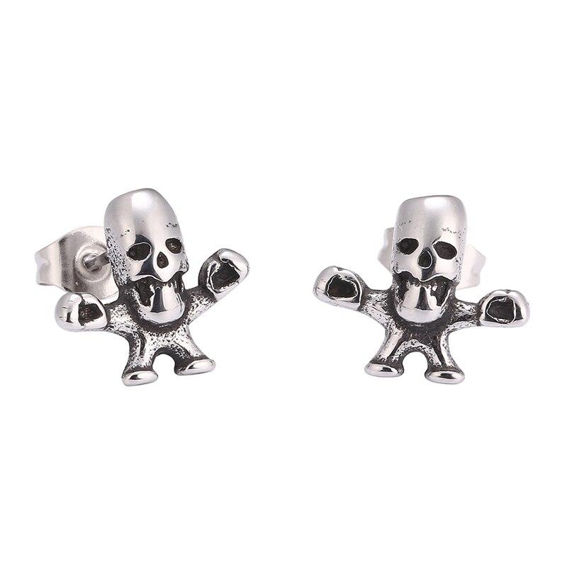 1 Pair Punk Skull Skeleton Earrings Women Girls/' Ear Studs Jewellery Accessories