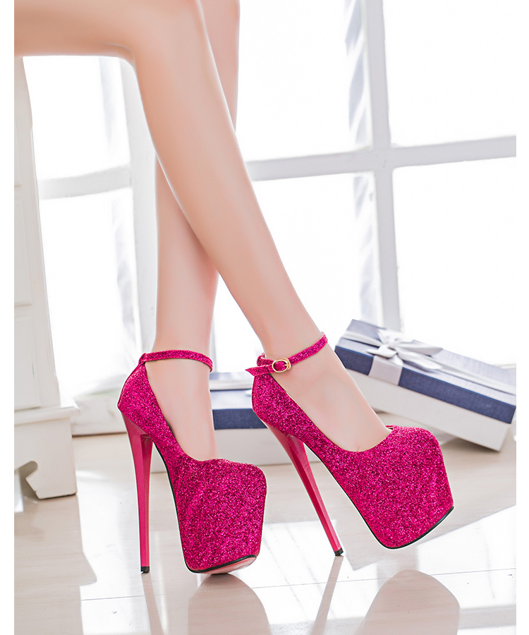 Spring new super high-heeled powder 20cm hate high 22cm <font><b>sexy</b></font> nightclub women's <font><b>shoes</b></font> 34-47 yards <font><b>large</b></font> <font><b>size</b></font> single <font><b>shoes</b></font> image