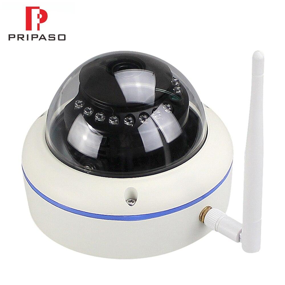 1080P WiFi a prueba de vandalismo cámara IP al aire libre inalámbrica 2.0MP Domo Cámara Audio registro Max 128G TF tarjeta ranura para ONVIF P2P