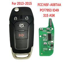 Datong – clé télécommande intelligente à 3 boutons, 2015 Mhz, transpondeur ID49, pour voiture Ford Escort (315)