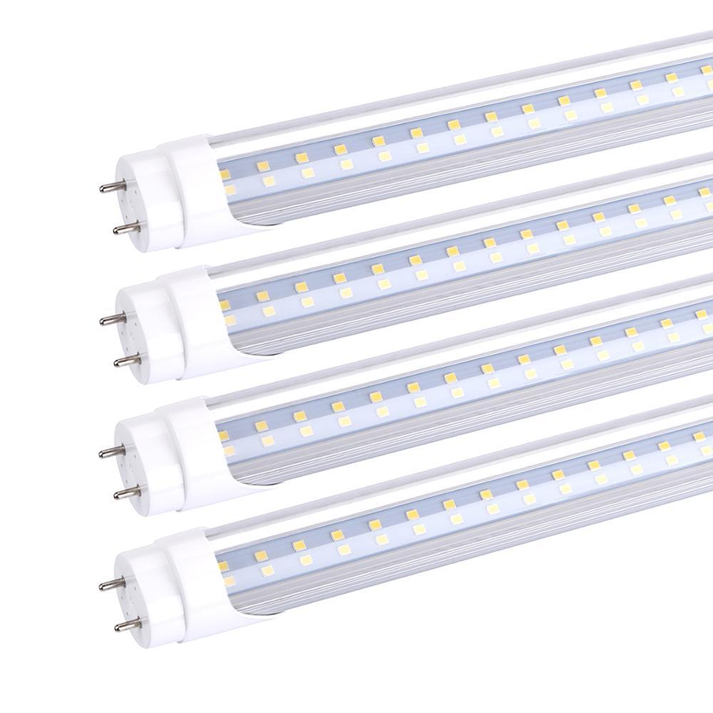 T8 tubos de luz LED 4ft 1,2 M 28W 18W 22W AC85-265V Bombilla LED T8 1200mm 4 pie 2835 iluminación LED SMD 4 pies tubo fluorescente Luces LED de pared para fiesta o Dj, 24 LEDs de Disco UV, Color Wash, luces LED de pared para Navidad, proyector láser, luces de pared