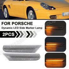 2X LED Dynamische Seite Marker Blinker Licht Lampe anzeige Sequentielle Für Porsche Boxster 986 911 Coupe Cabrio Targa (996)