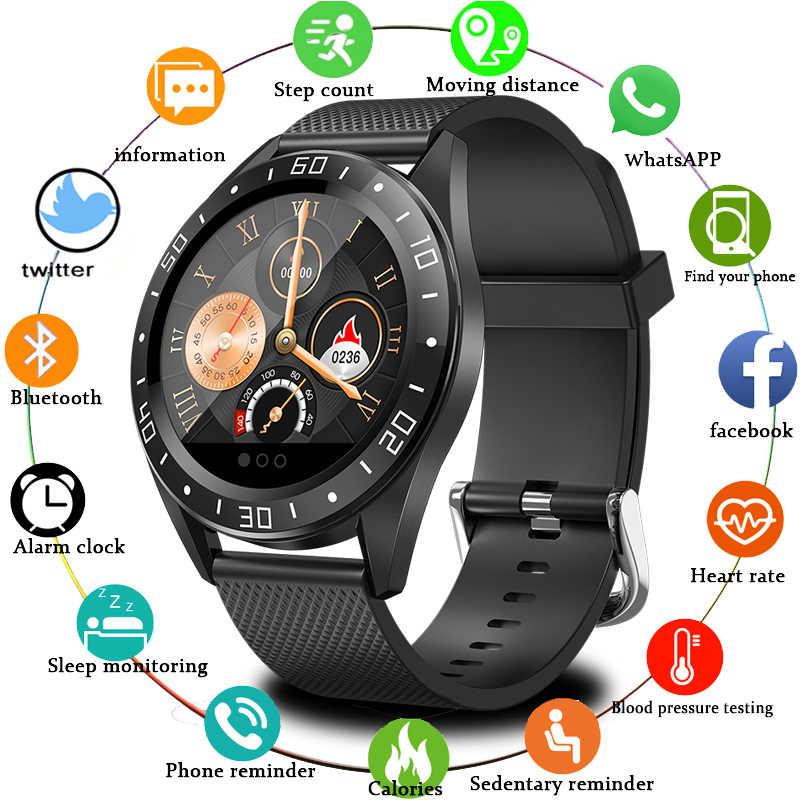جديد موضة الرياضة الرجال ساعة ذكية IP68 مقاوم للماء ل IOS أندرويد الهاتف smartwatch مراقب معدل ضربات القلب ضغط الدم وظائف