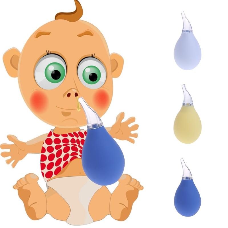 Baby Newborn Nasal Aspirator Suction Soft Tip Mucus Vacuum Runny Nose Cleaner
