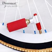 Deemount Mountainbike Pomp Beauty Wet Mond Universele Mini Draagbare CO2 Opladen Cilinder Aluminium Legering -