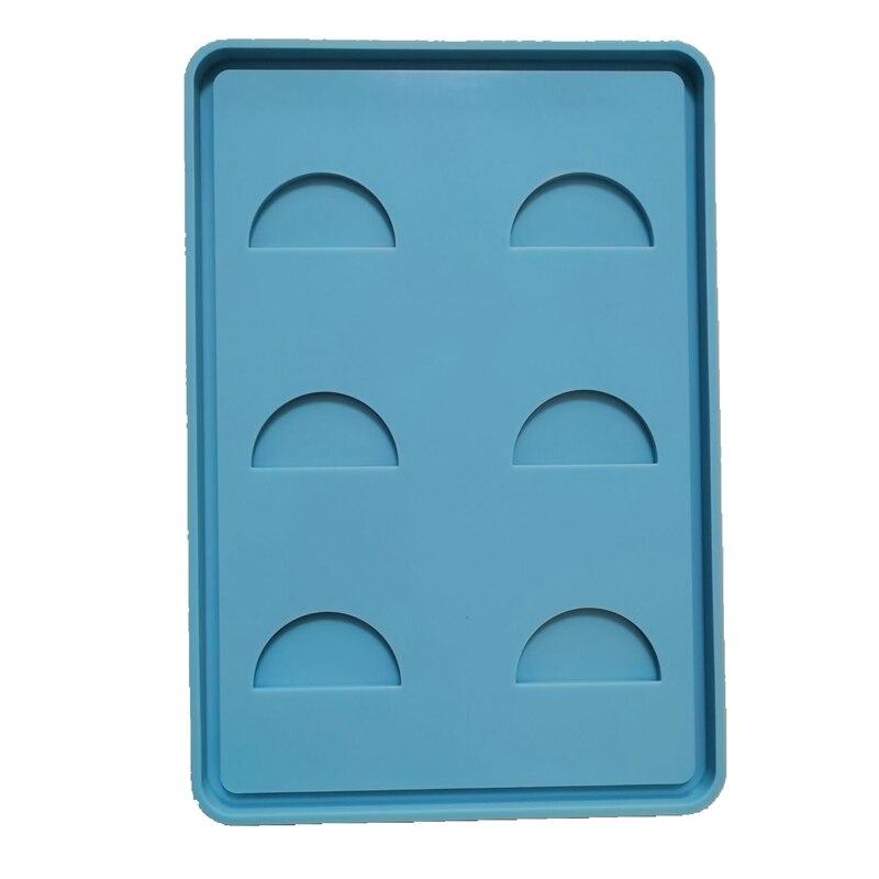 Bandeja de cílios molde de silicone diy artesanato artesanal caixa de armazenamento de jóias que faz o molde de resina epóxi