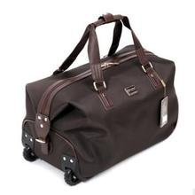 oxford travel trolley bag with wheels wheeled luggage suitcase for women men canrry on hand luggage bag wheeled bag for travel