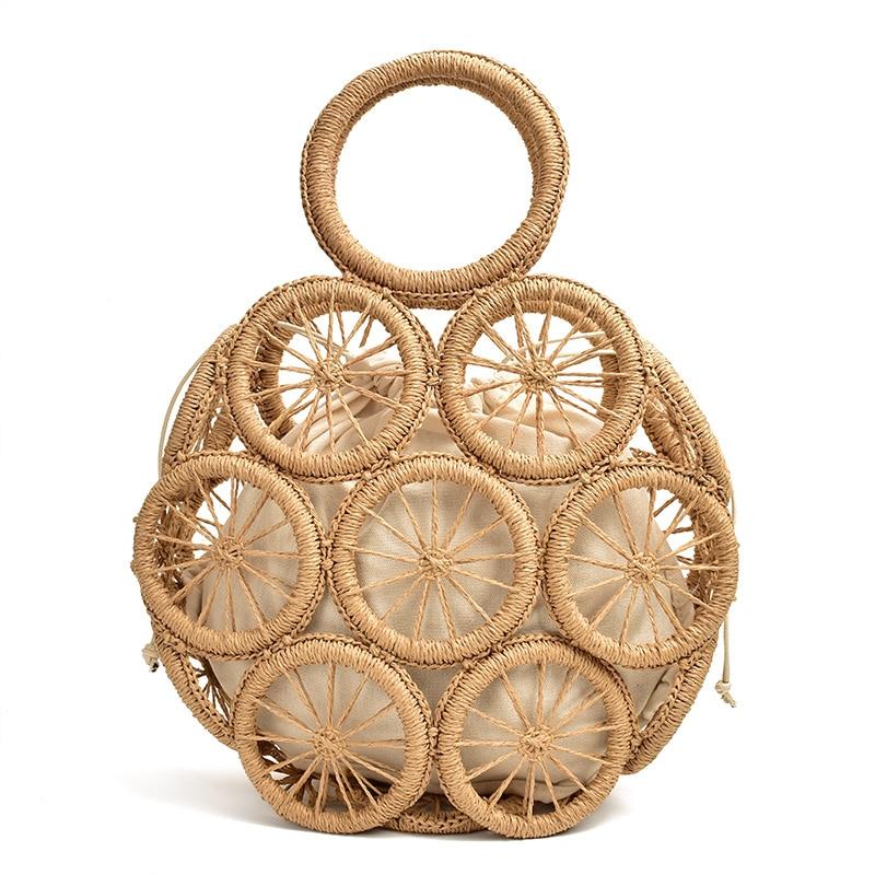 Seaside holiday bag hollow straw bag large capacity ins beach Crossbody bag 2020 summer hand weaving female Shoulder bag