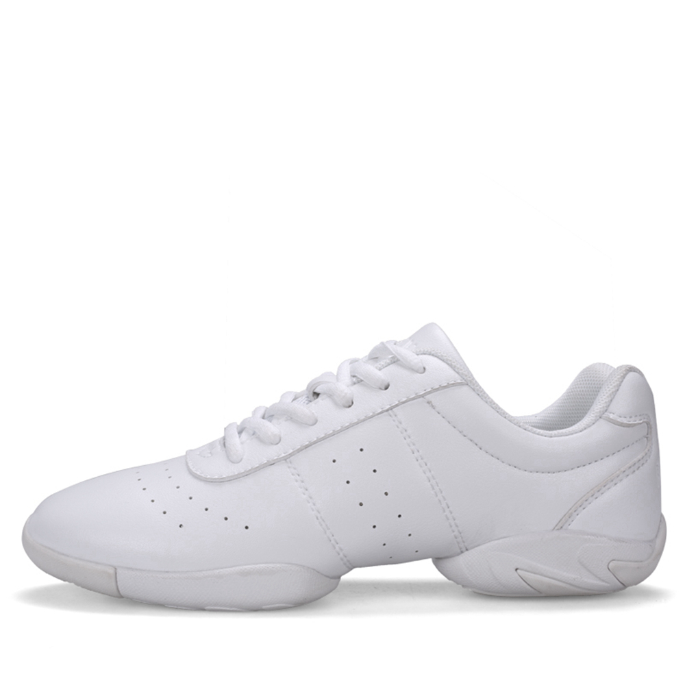 White Aerobic Shoes Children's Adult Fitness Shoes Gymnastics Sports Dance Shoes For Women Cheerleading Shoes Women's Square Dan