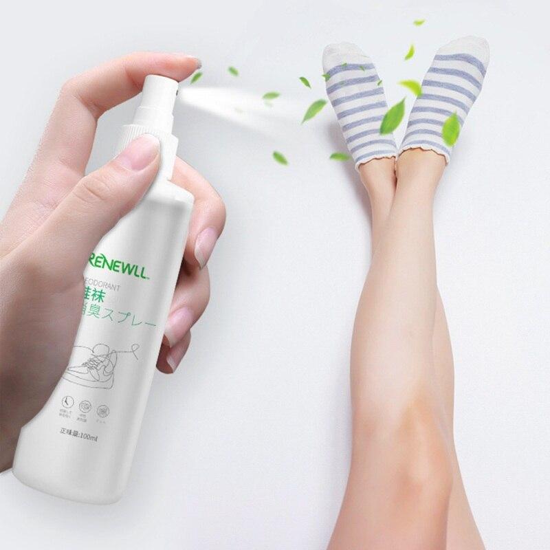 100ML Foot And Shoe Socks Deodorant Portable Household Merchandises  Remove Odor Sterilization Spray Anti-fungal Shoes Refresher