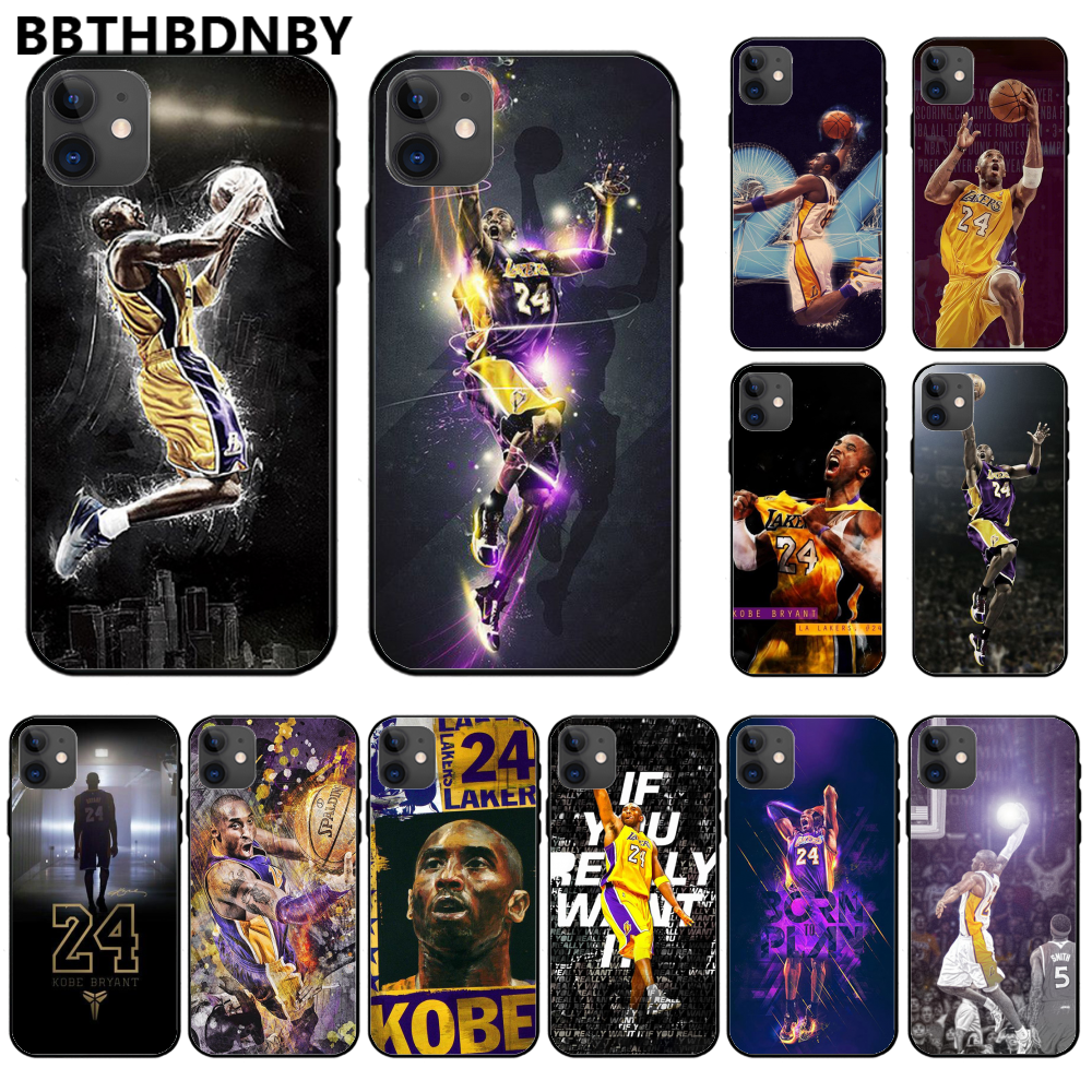 Basketball star kobe Bryant DIY Painted Bling Phone Case For iphone 11 pro max x xs xr 7 8 plus 6 6s 5 5s 5se