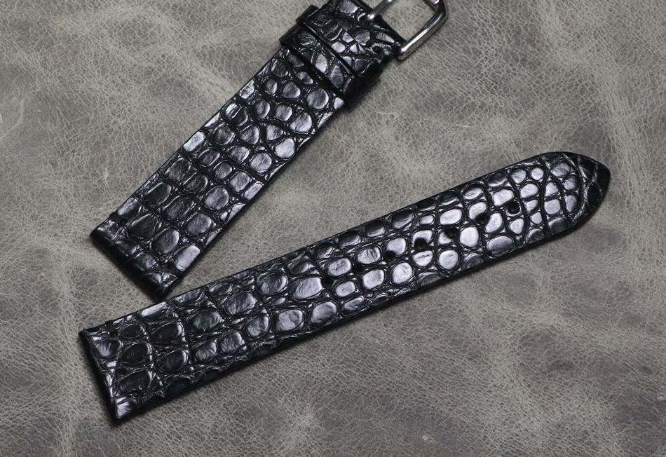 16 18 19 20 21 22mm Handmade High Quality Wristband Alligator Grain Strap Embossed Genuine Leather Watch Band Vintage Bracelet