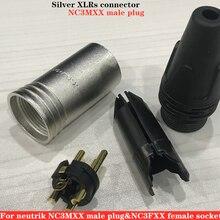 40Pcs/lot 20PCS NC3MXX & 20PCS NC3FXX For NEUTRIK Male and female A set 3 Pin XLR Connector withe high quality