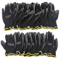 10 Pairs PU Nitril Sicherheit Beschichtung Arbeit Handschuhe Palm Beschichtete Handschuhe Mechaniker Arbeits Handschuhe haben CE Zertifiziert EN388