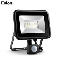 Eslas Светодиодный прожектор 10 Вт 20 Вт наружный прожектор с датчиком движения AC 220 В Водонепроницаемый IP65 светодиодный PIR отражатель проектор ...