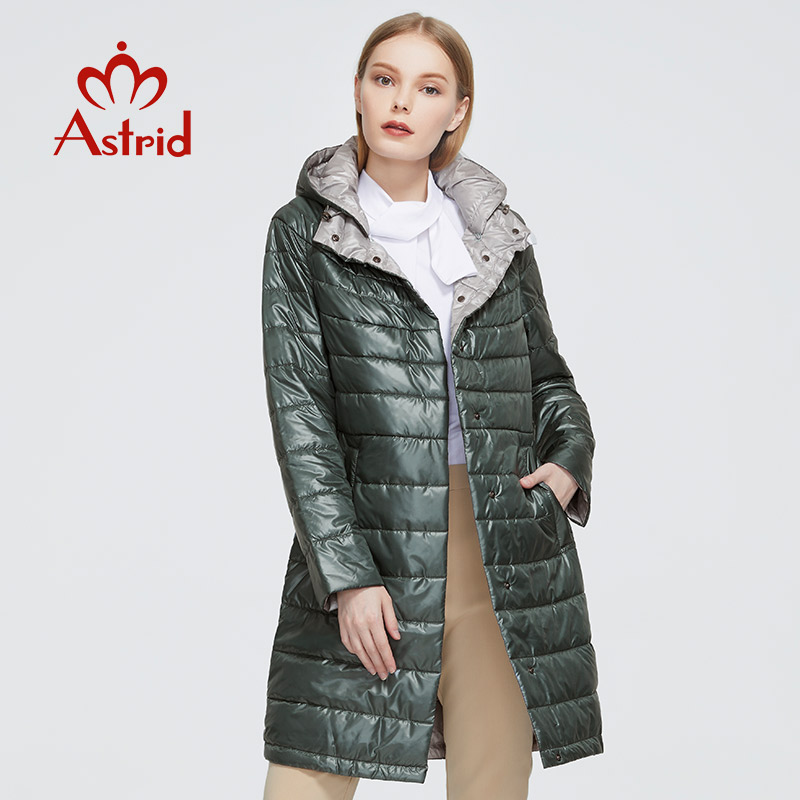 Astrid 2020 New Autumn Winter Women's coat women warm long parka fashion thin Jacket hooded Hight Quality female clothing 1955|Parkas| - AliExpress