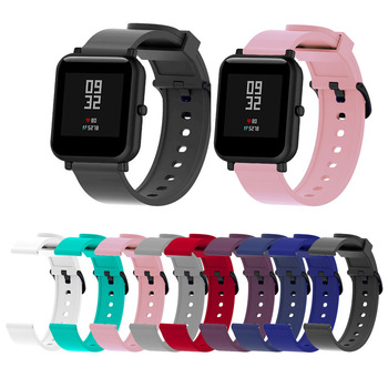20mm Silicone Sport Wrist Strap Protective Case Cover Plastic PC Shell for Huami Xiaomi Amazfit Bip BIT PACE Lite Smart Watch M1 protection case for huami amazfit bip s replacement pc watch case cover shell frame protector for xiaomi huami amazfit bip lite