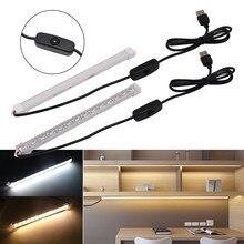 DC 5V LED Bar Light striscia rigida alimentata tramite USB copertura bianca lattea barra rigida lampada tubo di ricarica lampada 10cm 20cm 50cm 5630 striscia LED