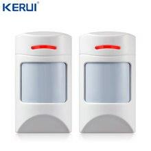 Kerui sem fio 433 mhz pet imune movimento pir detector 2 pces para segurança casa gsm sistema de alarme segurança anti-pet imunidade
